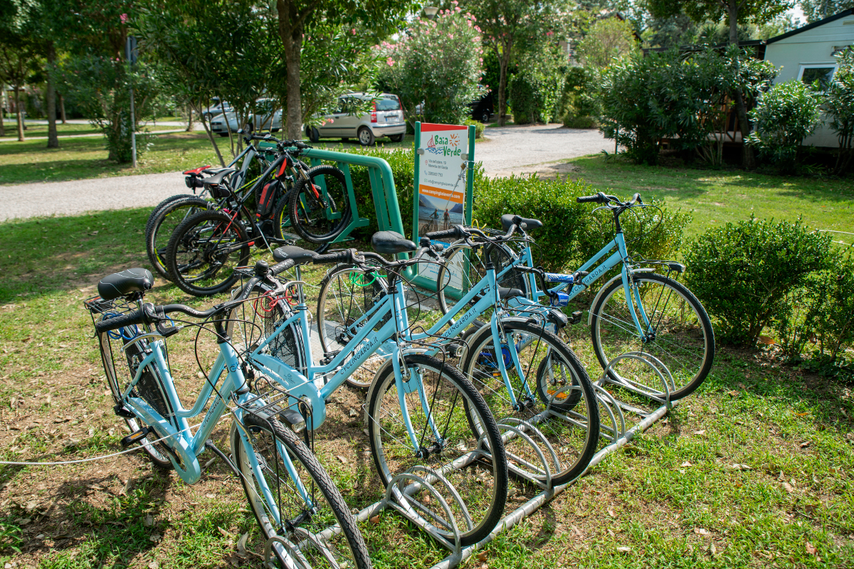 noleggio bici camping lago di Garda baia verde