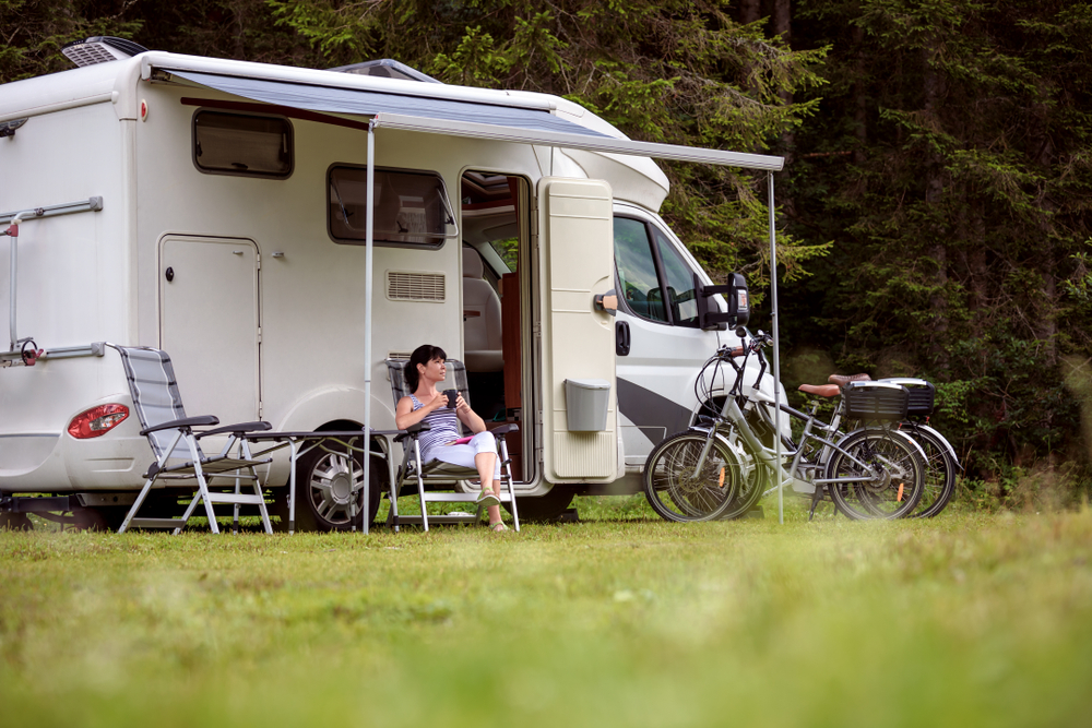 camper con bici